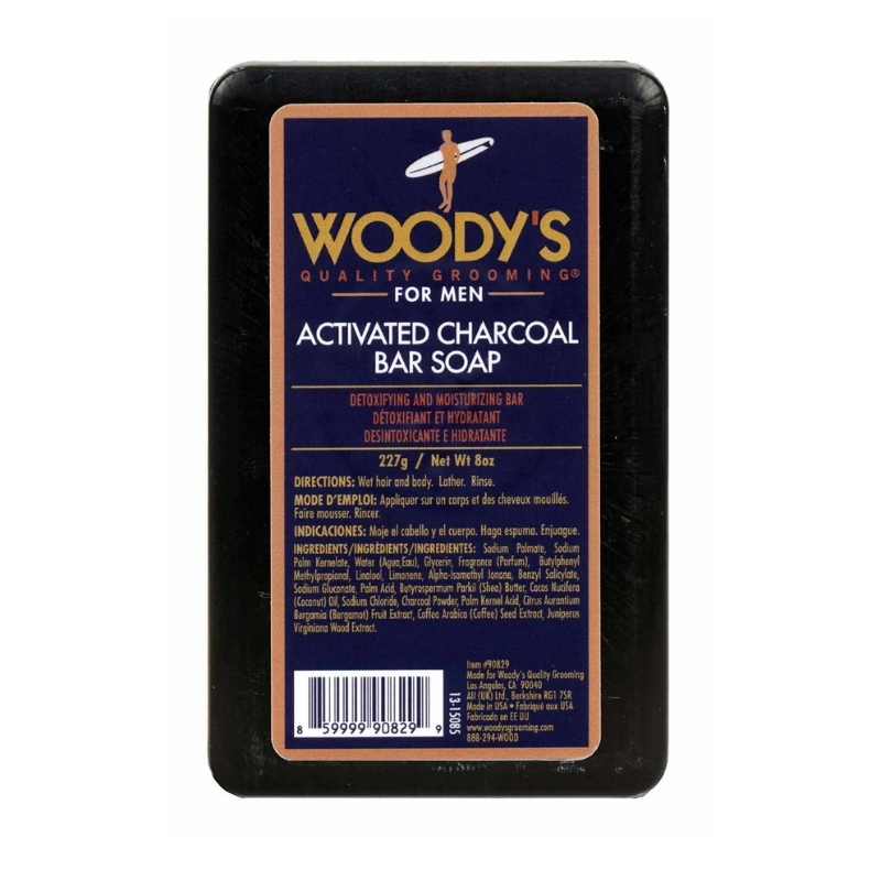 Black Charcoal Soap Woody's For Men 227 g
