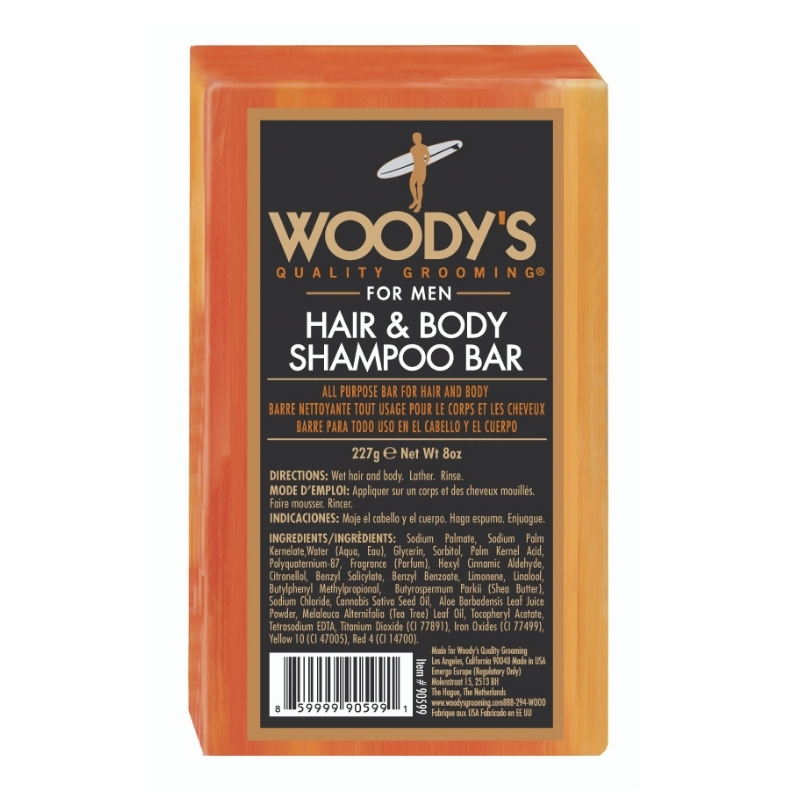 Hair and Body Shampoo Bar Woody's For Men 227 g