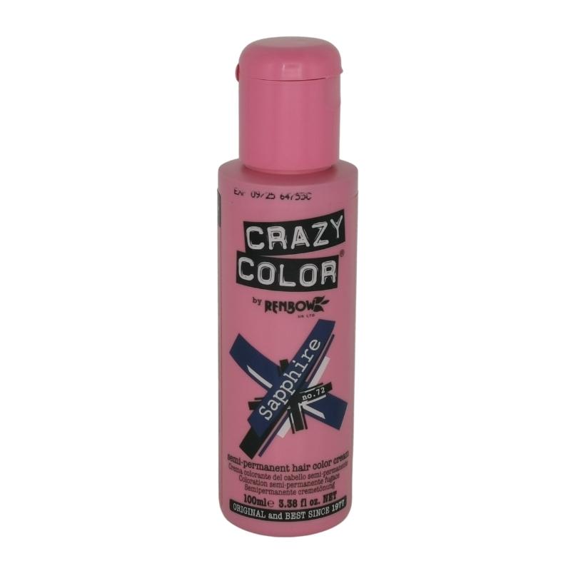 Saphire 72 Renbow Crazy Color Semi-Permanent Hair Color 100 ml